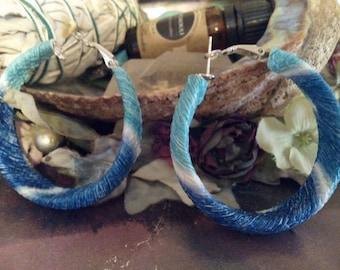 Funky Blue Big Hoop earrings