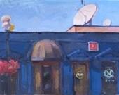 "Eugene Oregon cityscape landscape plein air oil painting ""Starlight"" original art by Sarah Sedwick"