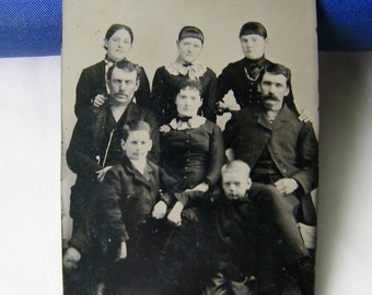 Small Sixth Size Tintype of Large Family