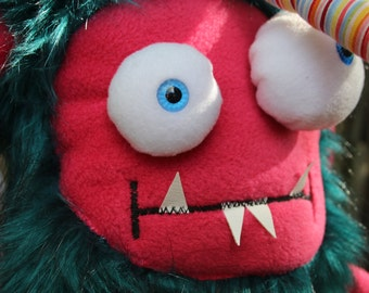 Gilbert, a naughty monster plush