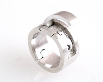 Sterling Silver Hinged Ring, Flat Band