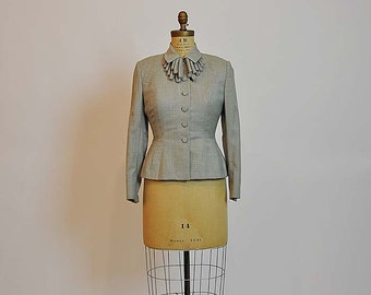 40s jacket / Feeling Loopy Vintage 1940's Fitted Jacket
