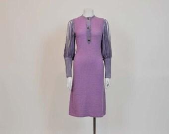 1960s dress / London Calling Vintage 60's Suede Knit Doren Hambling Dress