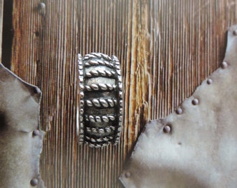 Men Heavy Band Ring Sterling Silver Vintage