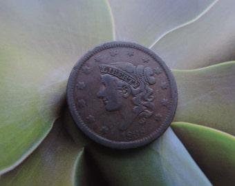 1838 Liberty Head Large Cent