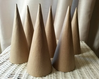paper mache cones party favors DIY paper gift cones 7x3 party candy containers crafts supplies hostess gifts