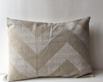 14x18 white on natural, textured, chevron