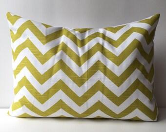14x18 yellow/green and white, chevron pattern