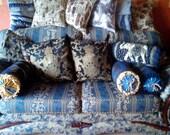 Victorian Style Bolster Cushion.