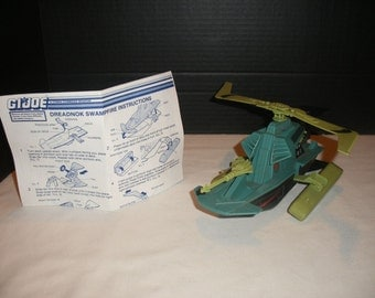 Vintage GI JOE Dreadnok Swampfire Vehicle with Instructions 1986 100% Complete  Classic Retro 1980's Toys