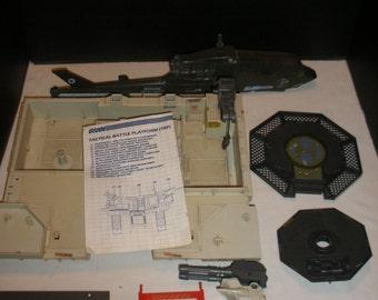 Vintage GI JOE Tactical Battle Platform Parts and Attatck Chopper For Parts Classic Retro 1980's Toys