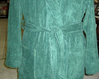 Item # 110 / Men's Classic Bath Robe / 100% Cotton Chenille / Custom made To Order