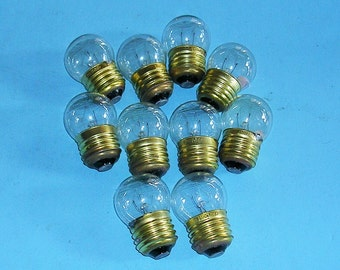 Five Vintage Light Bulbs Filament Light Bulbs