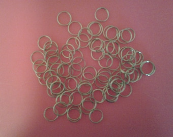 12mm Split Rings Nickel Finish 50 pieces