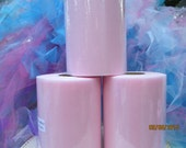 Light Pink Tulle  1 Roll  6 Inches Wide   100 Yards Long   300 Feet