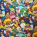 Nintendo Packed Super Mario Borthers Fabric By the Yard