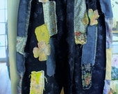 Raggey, Patched/Embellished/Splatter Painted/Upfashioned/Washed/Faded Sweatpants/Free Size