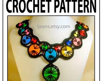 Wave Crochet Necklace Pattern