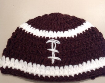 Football hat crochet