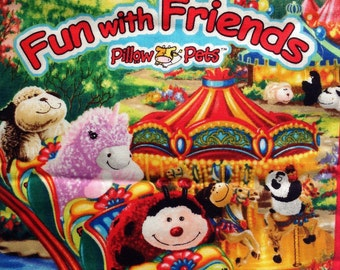 Fun with Friends  pillow pets fabric book