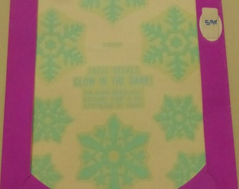 Vintage Meyercord Glow in the Dark Snowflake  Decals  NOS