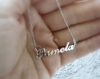 Sterling Silver ,Style Name Necklace, personalized, personal, custom ,Name Necklace, Personalized Any Name, Name Necklace, Initial necklace