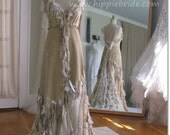 Leather and Antique Lace Wedding Dress