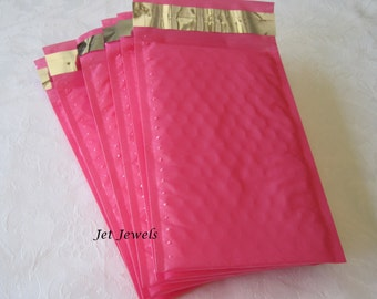 Bubble Mailers, Pink Bubble Mailers, Hot Pink Bubble Envelopes, Shipping Envelopes, Padded Mailers, Shipping Supply 4x8 Pack 40
