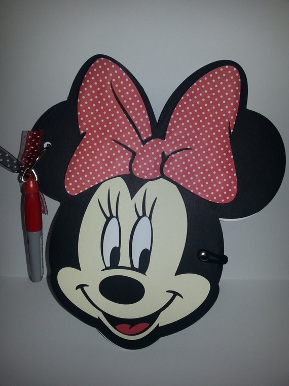 Minnie Mouse Disney Autograph Book, with Sharpie, Girl Handmade ...