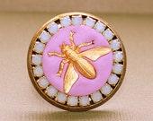Queen Bee Bague - Bague réglable - résine époxy en argile