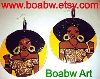 Afrocentric Power Queen Earrings