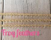 Metallic GOLD or SILVER Single LOOP Trim 1 /4 inch wide-5 yards
