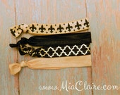 Black and Gold Hair Tie Pack