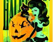 Sexy Sweet Halloween Witch 8x10 Lustre Print