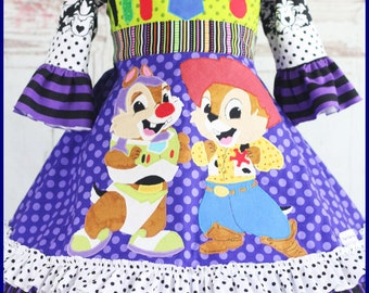 Toy Story Dress Up with Chip N Dale girl's Disney Dress Custom sizes 4 5 6 7 8 9 10