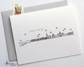 Williamsburg, Virginia - United States - City Skyline Series -  Folded Cards (6)