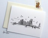 Pittsburgh, Pennsylvania - United States - City Skyline Series - Folded Cards (6)