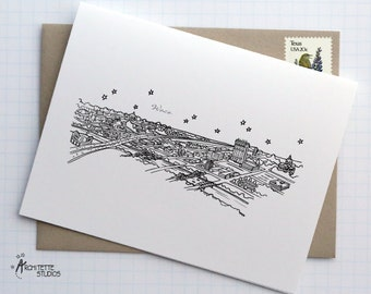 Waco, Texas - United States - City Skyline Series - Folded Cards (6)