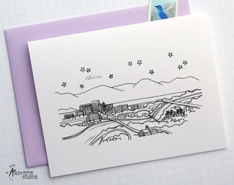 Boise, Idaho - United States - City Skyline Series - Folded Cards (6)