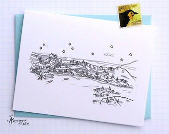 Bali, Indonesia - Asia/Pacific - City Skyline Series - Folded Cards (6)