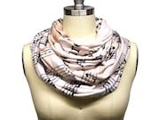 Custom Winter Infinity Sheet Music Scarf Vivaldi Musician Gift - Soft Knit Fabric