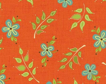 CLEARANCE! Orange Leaves, 6382-30, Yardage, Home for the Harvest, Heather Mulder Peterson, Henry Glass Fabrics