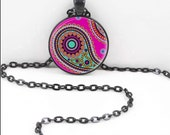 Hindu Paisley Necklace, Hindu Paisley Pendant, Gothic Paisley WIccan Pagan Bohemian Gypsy Jewelry PAS18