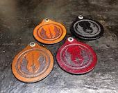 Leather Jedi keychain