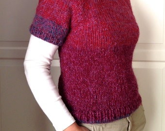 Super chunky hand knit T-shirt