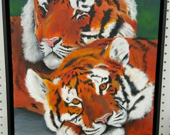 Two Tigers - original oil