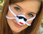 Red Lips Warmin' in the Sun Nose Warmer, Outdoor Sports Actitivies, Teacher Gift, Sleep with  Warm Nose, Tailgating, Party Favor Fun Gift ,