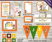 Vintage Fiesta Party Printable party package with cute cowboy caballero and donkey