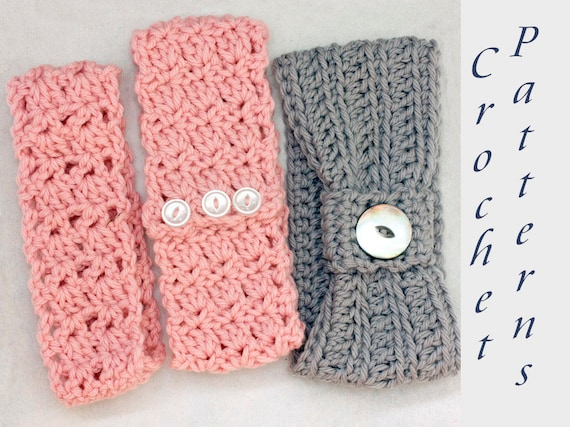 Three Headband Crochet Pattern Beginner Crochet Pattern Head