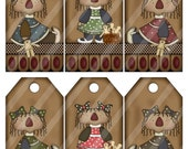 Primitive Annie Dolls Digital Printable Sheet